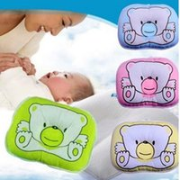 ingrosso cuscino della testa del bambino-Neonato Baby Bear Pattern Cuscino Sleeping Support Evitare Flat Head Cushion Peluche Animal Shape Cute Soft Pillow