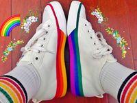 kız bej ayakkabıları toptan satış-2019 Yeni Orijinalleri PRIDE NIZZA Yonca Koşu Ayakkabıları Kızlar iki tonlu Gökkuşağı Spor Sneakers kadın erkek Bej Tasarımcı Rahat Shoes 36-44