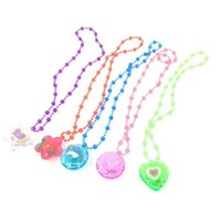 Wholesale flash cartoons resale online - Necklace Led Light Up Toys Cartoon Luminescence Necklaces Flash Of Light Crystal Bead Chain Festival Party Vocal Concert Ornament ty p19