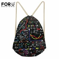 Wholesale plain drawstring shoe bags for sale - Group buy FORUDESIGNS Portable Math Formula Print Drawstring Bags Girls Boys Shoes Bags Women Cotton Travel Pouch Storage String Backpack