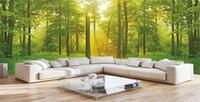 бесплатные обои на рабочий стол оптовых-3d обои с цифровой печатью HD обработанные леса полная сцена росписи фон обои для стен 3d пейзаж обои