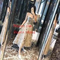 marka yeni maxi elbiseler toptan satış-2019 Yeni popüler yaz elbiseler kadın tulumlar kadın parti etek kayış inci mektubu etek marka kadın giyim yüksek kalite maxi elbiseler