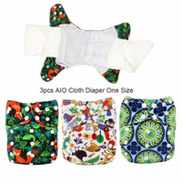 Wholesale diapers one for sale - Group buy All In One Breathable Cloth Diaper with Bamboo Boosters Digital Print AIO Reusable Diaper Nappies Made In China