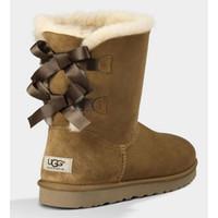 vendas designer de sapatos on-line venda por atacado-Austrália inverno sapatos ug botas de neve mulheres designer de moda botas clássico Botão Bow 3280 ankle boots boa venda online