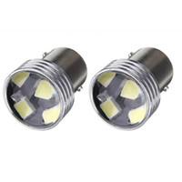 bombillas individuales al por mayor-12 V luz blanca súper brillante de alta potencia de ahorro de energía LED luz de la matrícula del coche luz trasera holgura luces bombilla 1156 pie solo R5W