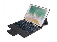 Wholesale china color screen bluetooth resale online - Wireless Bluetooth Keyboard With Colors LED Backlit PU Leather Case Cover For New iPad pro quot iPad air
