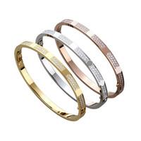 навсегда любовь бриллиантов оптовых-Нержавеющая сталь гипсофил Двойных Ряды кристаллического камень браслетов для женщин Love Forever Алмазного браслет дизайнер ювелирных изделий для женщин