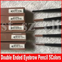 бровь горячая оптовых-Hot Makeup Eyebrow Enhancers Макияж Skinny Brow Brow Pencil, золото, двусторонний с кисточкой для бровей, 0,2 г 5 цвет