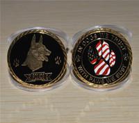 buste d'or achat en gros de-Livraison gratuite 3pcs / lot, chez les chiens nous avons confiance, avec des pattes nous buste K-9 Challenge Gold
