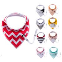 Wholesale apron towels resale online - Baby Feeding Head Scarf Towel Bib Boy Girl Bandana Saliva Triangle Dribble double Feeding Apron Cotton Bandana Bibs KKA6918