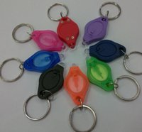 Wholesale squeeze keychain for sale - Group buy Mini Pocket Keychain Flashlight Micro LED Squeeze Light Outdoor Camping Emergency Key Ring Light Torch Lamp Party Favor GGA2090
