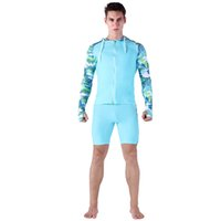 Wholesale anti uv swimwear for sale - Sabolay Men Quality Long Sleeves And Shorts Surfing Suit Rash Guard Snorkeling Wet Suit Anti uv Upf Swimwear