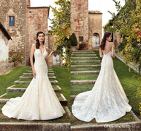 Wholesale lace halter neck mermaid wedding dresses resale online - 2020 Wedding Dresses Halter Neck Sleeveless Backless Lace Appliques Bridal Gowns Custom Made Sweep Train Mermaid Wedding Dress