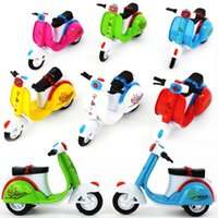 Wholesale bicycle sales resale online - Kids Alloy Bicycle Toy Pull Back Power Motorcycle Model Fine Work Small Gifts For Boys Hot Sale tq O1