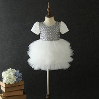Wholesale baby girls tiered lace tutu for sale - Group buy Children lace tulle tutu dress girls sequins plaid embroidery princess dress kids tiered lace falbala party dress baby girl clothes F10125