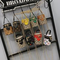 Wholesale christmas gift bucket for sale - Group buy Girls Mini Bucket bag chain Crossbody Bags Kids Handbags Fashion Princess Purses Bucket Shoulder Bags Children Coin Bags Gifts LJJK1709