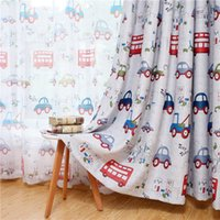 занавес автомобилей  оптовых-Children cartoon boy girl bedroom curtain children blinds curtain cloth cute car pattern screening fabric