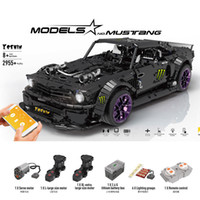 Wholesale build toy race car for sale - Group buy 2019 New Ford Mustang Hoonicorn Racing Car Technic Moc Fit Building Block Bricks Kid Toys ChristmasMX190820
