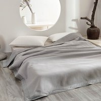 Japanese Summer Thin Blanket Full Queen Size Plaid Solid Color Gray Brown Blue Red Light Green Cotton Yarn Dyed Blanket