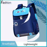 Wholesale pink korean backpacks resale online - Fashion Korean Version Elementary School Children Schoolbags Waterproof Breathable Offload Protect Spine Backpack For Boys Girls
