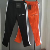 zipper pocket sweatpants venda por atacado-2019 anjos de palma sweatpants homens mulheres melhor qualidade bolso com zíper roxo vermelho orange black pants moda palma anjos sweatpants