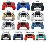 titreşim kutusu toptan satış-14 renkler luetooth PS4 Titreşim Joystick için Kablosuz PS4 Denetleyici Gamepad PS4 Oyun Denetleyicisi ile Sony Play Station için kutu ambalaj