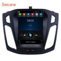 cámaras digitales chinas al por mayor-Android 6.0 9.7 pulgadas HD con pantalla táctil de navegación GPS estéreo para automóvil para Ford Focus 2012-2015 con Bluetooth USB Soporte OBD2 Cámara trasera DVD para automóvil