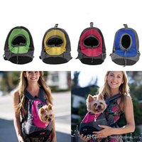 Wholesale portable carriers for sale - Group buy Pet Dog Carrier Pet Backpack Bag Portable Travel Bag Front Bag Mesh Backpack Head Out Double Shoulder Bags LJJ_OA4705