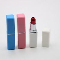 pipa labial tabaco al por mayor-Lápiz labial Pipas para fumar 3 diseños Moda Mágica Lápiz labial Pipe 84 * 17 MM Portátil Mini Pipa de fumar Aleación de aluminio Tubos de tabaco 50 piezas DHL