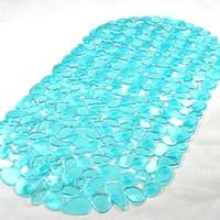 tapetes de paralelepípedos venda por atacado-Fontes do banheiro 65x36cm Cobblestone Anti-Slip Tapete de banho com ventosa impermeável tapetes de PVC