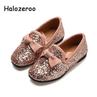 Wholesale baby moccasins girls bow resale online - 2019 Autumn New Baby Girls Bow Princess Shoes Children Glitter Flats Kids Pink Brand Loafer Party Shoes School Fashion Moccasin