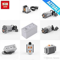 Wholesale motor led lights resale online - Lepin Motor Technic Train Remote Control Battery Box Switch LED Light Power Functions roller coaster