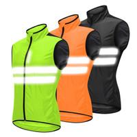 новые пароли оптовых-Светоотражающие безопасности Vest зеленый / черный / оранжевый велосипед Джерси Мужчины Женщины ветрозащитный chaleco bicicleta Ветровка Бег Велоспорт Vest
