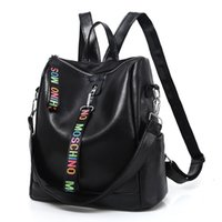 tasarımcı çanta eğilimleri toptan satış-Yeni Kore Eğilim Sırt Çantası Kadın Omuz Çantası Lüks Tasarımcı Çanta Kadın Açık Sırt Çantası Moda Seyahat Çantaları Öğrenci Schoolbag Satchel