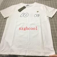 tipo homens venda por atacado-Designer de 19SS dos homens T-shirt Confortável Tipo Solto Simples Moda Respirável T-Shirt Dos Homens Por Atacado Especial Monstro Design