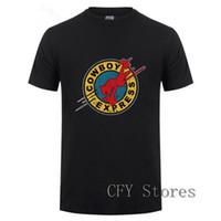 ingrosso camicie espresse casual-2019 Cowboy Bebop Express Maglietta da uomo in cotone stampato Ringer Maglietta casual a maniche corte T-shirt nera Cool Top