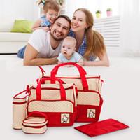 Wholesale polka dot backpack for baby resale online - Large Capacity Diaper Bag Backpack for Baby Care convenient travel Mummy Diaper Bag Multifunctional Nursing Bag Backpacks Pregnant