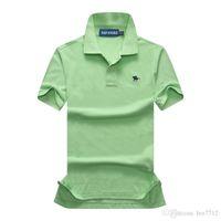 orange polo-stil hemden großhandel-Polohemd der neuen Art Mens-Krokodil-Stickerei-Männer Kurzhülse Baumwollhemd Jerseys Poloshirt Heiße Verkäufe Mannkleidung