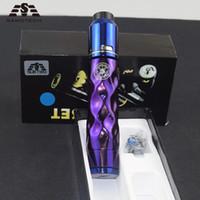 electronica 24 al por mayor-La mayoría de HOT AV Mech Mod KIT Mod mecánico 24 mm de diámetro encaja 510 hilos 18650 Batería de latón Cigarrillo electrónico Vape pluma