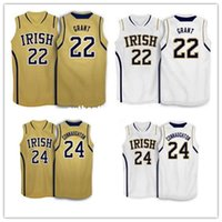 Wholesale fighting irish jersey resale online - Cheap Notre Dame Fighting Irish Basketball Jersey Pat Connaughton Jerian grant Jersey Stitched Throwbacks College Basketball