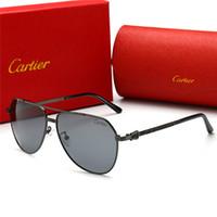 Wholesale sun glasses box resale online - Top Quality Glass Lens Polit Luxury Sunglasses Carfia UV Sunglasses For Men Designer Sunglasses Vintage Metal Sport Sun Glasses With Box