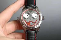 homens assistem russo venda por atacado-Nova marca Mens watch Russian clown design exclusivo movimento de quartzo Relógios de Alta qualidade homem Mulheres Relógios De Pulso