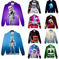 Wholesale character jackets for sale - Group buy 13 styles DJ marshmello hoodie long Sleeves Pullover Tops round Neck cartoon d printed Sweatshirt Jacket home casual clothes FFA1710