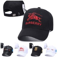 sombrero de atletismo al por mayor-Burberry Venta al por mayor verano otoño caliente marca diseñador gorra hombres mujeres lujo bordado algodón gorras de béisbol atlético Snapbacks sombrero sombrero casual al aire