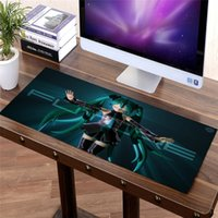 Wholesale desk edge resale online - 600X400mm Mouse pad Anime Large Girl Gaming Mouse Pad DIY Speed Anti slip Extended Lock Edge Computer Office Laptop Desk