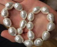 15MM Keshi Pearl South Sea baroque purple Pearl Earrings 925 silve
