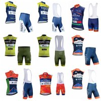 Wholesale FANTINI summer cycling jersey ropa ciclismo hombre pro team bicycle clothing quick dry Sleeveless mtb bike D gel pad bib shorts set L