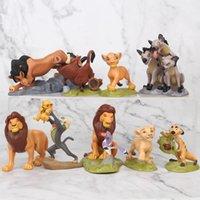 figuras do rei leão venda por atacado-[Novo] 9pcs / lot O Rei Leão Simba Pumba Pumba Zazu Mufasa Scar Sarabi Figuras bonecos colecionáveis modelo de brinquedo crianças de presente de Natal