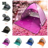 strandtöne kommen auf großhandel-Für 2-3 Personen Camping Zelt Outdoor Sonnenschutz Wandern Strand Zelt Automatische Tragbare Pop Up Strand Zelt ZZA655
