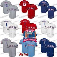 Wholesale baseball jerseys texas resale online - Texas Elvis Andrus Final Season Stadium Asdrubal Cabrera Joey Gallo Shin Soo Choo Rangers Nomar Mazara Delino DeShields Troy Dixon Jersey